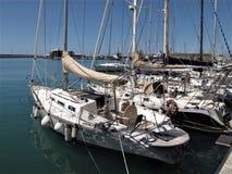 意大利,奇维塔韦基亚旅游港  库存照片