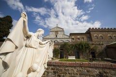 意大利,托斯卡纳,佛罗伦萨,圣米尼亚托教会 免版税图库摄影
