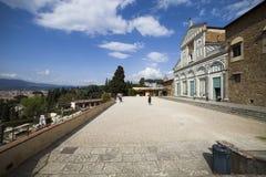 意大利,托斯卡纳,佛罗伦萨,圣米尼亚托教会 库存照片