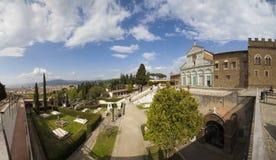 意大利,托斯卡纳,佛罗伦萨,圣米尼亚托教会 库存图片