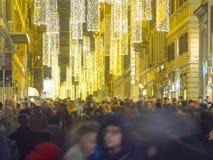 意大利,托斯卡纳,佛罗伦萨,圣诞节时间在市中心 库存图片