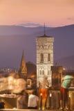 意大利,托斯卡纳,佛罗伦萨, Giotto塔 免版税库存图片