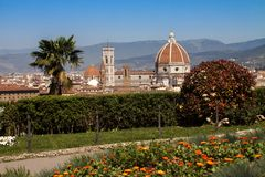 意大利,托斯卡纳,春天的佛罗伦萨 图库摄影