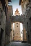 意大利,托斯卡纳,皮斯托亚 大教堂钟楼  库存照片