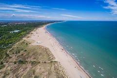 意大利,海滩亚得里亚海 海的基于在Venic附近 图库摄影