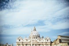 意大利,罗马,梵蒂冈,圣皮特圣徒・彼得` s正方形 免版税库存照片
