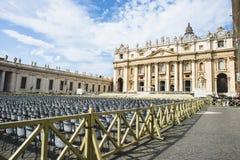 意大利,罗马,梵蒂冈,圣皮特圣徒・彼得` s正方形 免版税库存图片