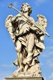 意大利,罗马, Castel Sant `安吉洛,天使雕象与海绵的 库存图片