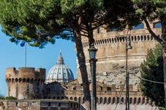 意大利,罗马, castel sant'angelo 库存图片