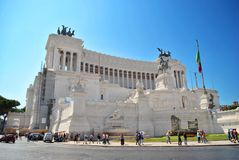 对胜者伊曼纽尔的纪念碑II在罗马 免版税库存照片