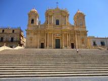 意大利,西西里岛:圣Nicolà ²大教堂在诺托 免版税库存图片