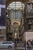 意大利,那不勒斯, 02,01,2018画廊翁贝托 免版税库存照片