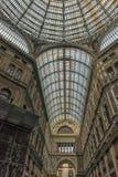 意大利,那不勒斯, 02,01,2018画廊翁贝托 免版税库存图片
