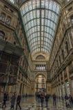 意大利,那不勒斯, 02,01,2018画廊翁贝托 免版税图库摄影