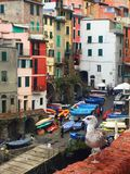 意大利, cinque terre的街道 免版税库存图片