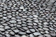 意大利:古老石路路面 免版税库存图片