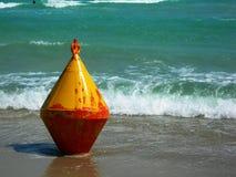 意大利:在Salento海滩的蟒蛇 库存照片