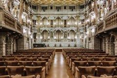 意大利:曼托瓦, Bibiena剧院 图库摄影