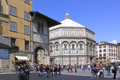 意大利 佛罗伦萨 cathedral del fiore玛丽亚・圣诞老人 库存照片