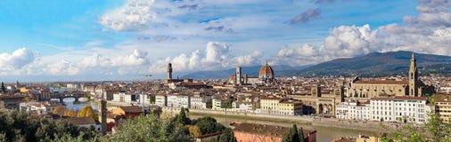 意大利 佛罗伦萨 从Piazzale米开朗基罗的全景 库存图片