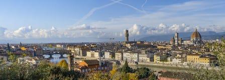 意大利 佛罗伦萨 从Piazzale米开朗基罗的全景 库存照片