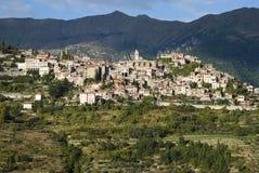 意大利 因佩里亚省 中世纪村庄特廖拉 图库摄影