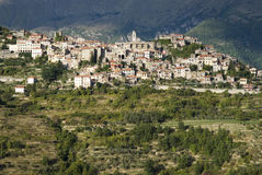 意大利 因佩里亚省 中世纪村庄特廖拉 免版税图库摄影