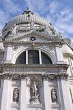 意大利 威尼斯 圣玛丽亚della致敬大教堂  详细资料 免版税图库摄影