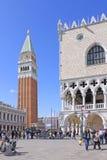 意大利 威尼斯 圣Marco -圣马克的钟楼钟楼  图库摄影