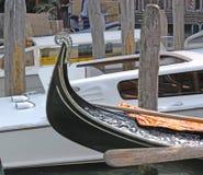 意大利 威尼斯 城市视图 长平底船 库存照片
