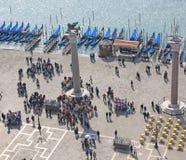 意大利 威尼斯 城市视图 长平底船 免版税图库摄影