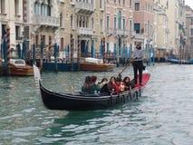 意大利 威尼斯 城市视图 长平底船 库存图片