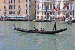 意大利 威尼斯 城市视图 长平底船 免版税库存照片