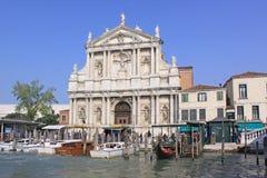意大利 威尼斯 教会degli Scalzi或圣玛丽亚二拿撒勒 免版税图库摄影
