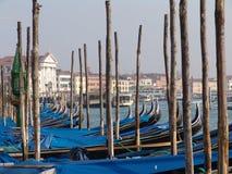 意大利 威尼斯 长平底船 免版税库存图片