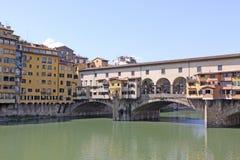 意大利 对Ponte Vecchio的Vuew在佛罗伦萨 免版税库存照片