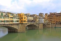 意大利 对Ponte Vecchio的Vuew在佛罗伦萨 免版税图库摄影