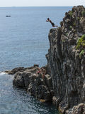 意大利2017年峭壁潜水 图库摄影