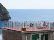 意大利2017年晒日光浴的屋顶上面 免版税图库摄影