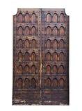 意大利建筑学细节 老中世纪样式前门 免版税图库摄影