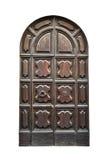 意大利建筑学细节 老中世纪样式前门 库存照片