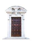 意大利建筑学细节 老中世纪样式前门 免版税库存照片