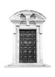 意大利建筑学细节 老中世纪样式前门 库存图片