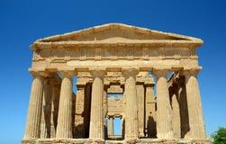 意大利-阿哥里根托: Concordia寺庙  免版税库存图片