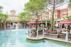 意大利主题的地区-欧罗巴公园,德国 免版税库存照片