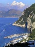 意大利 Capri港口 库存照片