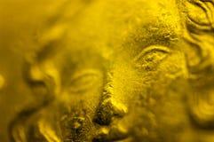 意大利10cent欧洲硬币细节 库存照片