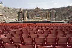 意大利 Veronese圆形剧场 阶段的看法 免版税库存图片