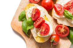 意大利bruschette,传统开胃菜 库存图片