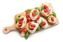 意大利bruschette,传统开胃菜 免版税库存照片